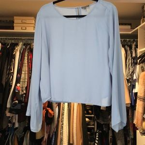 Vince Camuto cropped blouse.